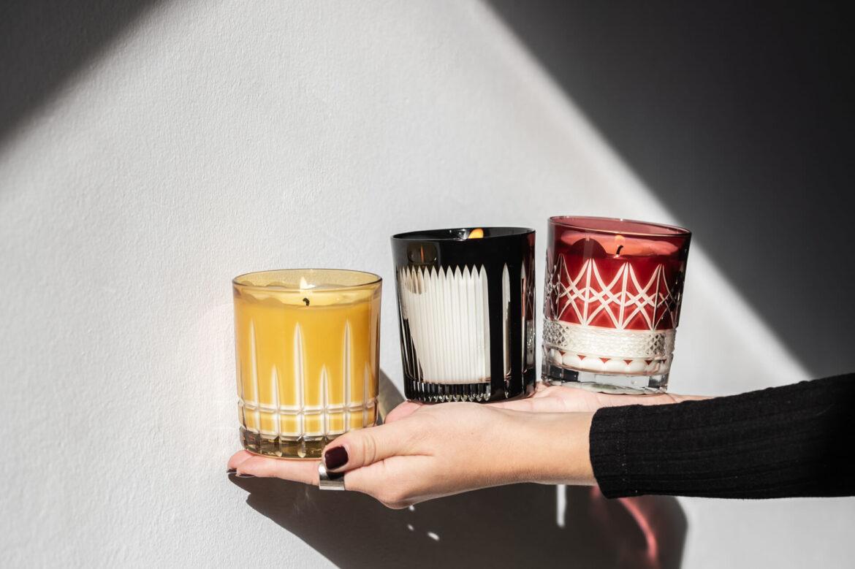 prezent świąteczny świeca zapachowa kryształowa