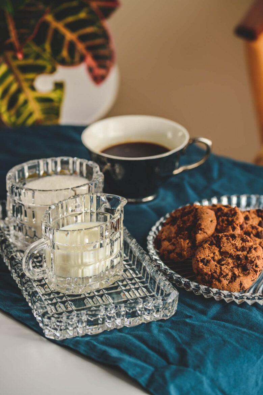 prezent świąteczny zestaw śniadaniowy kryształowy