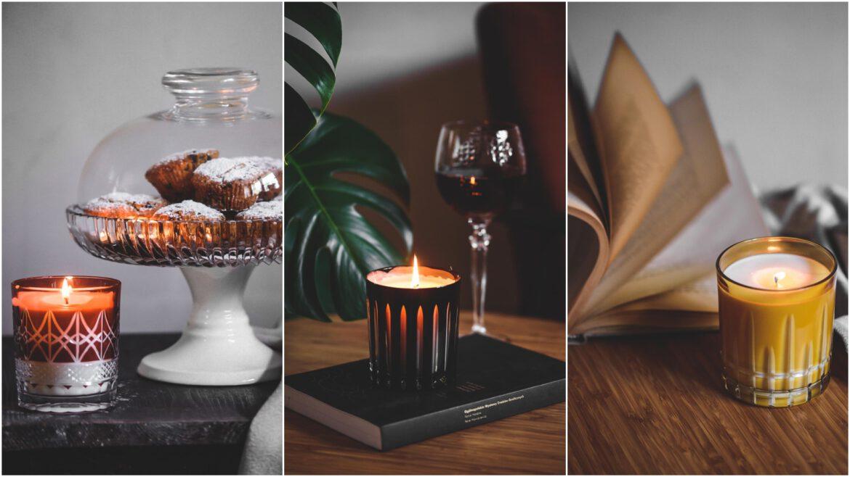 prezent świąteczny kryształowa świeca zapachowa